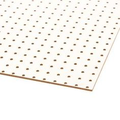 $8 White Peg Board (Common: 3/16 in. x 2 ft. x 4 ft.; Actual: 0.165 in. x 23.75 in. x 47.75 in.), 109099 at The Home Depot - Mobile