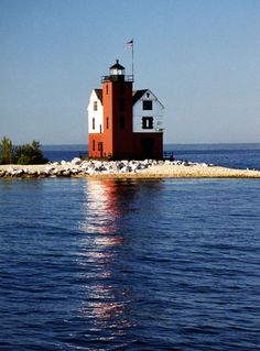 Round Island Passage Lighthouse, Lake Huron.  We saw this one on a cruise through the Straits of Macinac.