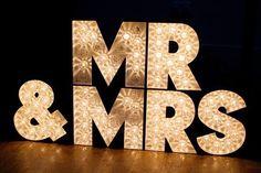 Mr. and Mrs. In lights. WestVintageTradingCo