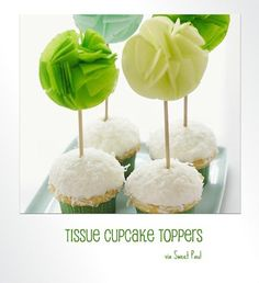 DIY Projects | tissue cupcake toppers