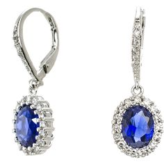 Cz By Kenneth Jay Lane 4cttw Oval Cz Pave Ears (347873301) ($50) ❤ liked on Polyvore featuring jewelry, earrings, blue, cubic zirconia earrings, pave earrings, oval earrings, blue earrings and cz by kenneth jay lane jewelry