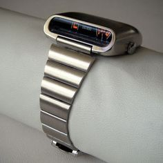 "Amida 'Digitrend"" driver's watch with mechanical movement and jump-hour reading.  Made 1975."