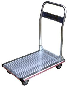 """Vestil AFT-48 Aluminum Folding Platform Truck with Single Handle and 5"""" Rubber Casters, 600 lbs Capacity, 48"""" Length x 24"""" Width by Vestil. $156.49. For safe transportation of stacks of paper, small parts and other lightweight equipment. Ideal for maintenance rooms, offices, schools, hospitals, etc. Plastic corner protectors enhance durability and protect surroundings. Rugged aluminum construction with single folding handle design. Deck measures 48"""" length by ..."""