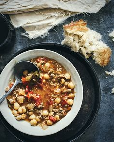 Spicy Minced Lamb and Chickpea Soup