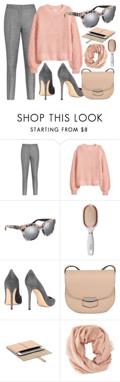 """""""WorkWear"""" by smartbuyglasses-uk ❤ liked on Polyvore featuring Reiss, H&M, Gucci, Goody, Gianvito Rossi, CÉLINE, Charlotte Russe, Pink and gray"""