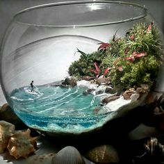 Ohhhh woah woah woaAAHHH Source by elkesstricktedd Mini Terrarium, Terrarium Scene, Air Plant Terrarium, Terrarium Wedding, Terrarium Ideas, Moss Garden, Succulents Garden, Air Plants, Indoor Plants