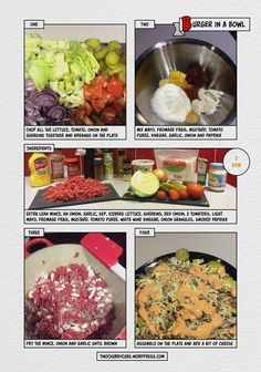 Slimming Fancy a big mac? CAN'T HAVE ONE because you're at Slimming World? Make this easy burger in a bowl in a recipe and never look back! Burger In A Bowl Slimming World, Sp Meals Slimming World, Healthy Recipes For Weight Loss, Healthy Eating Recipes, Cooking Recipes, Lamb Recipes, Diet Recipes, Healthy Food, Big Mac
