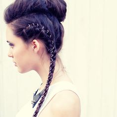 I love the look of hair rings! I think I might want to incorporate this into my bridal look.