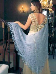 Knitting - Wearables - Winter Warmers - Cat's Paw Lace Shawl - #FK00290