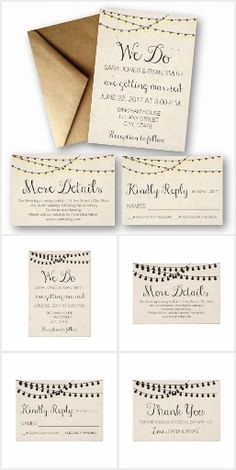 Rustic Wedding Items with Calendar Save the Dates, invites, rsvps, details cards, and more. Click through for more designs for weddings, birthdays, anniversaries, and more.