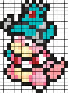 Slowking Pokemon Bead Pattern Perler Bead Pattern / Bead Sprite