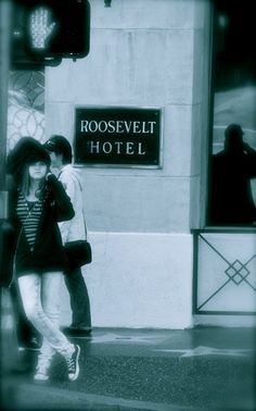 Hollywood Blvd - Hollywood outside the historic Roosevelt Hotel (photo by me)