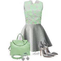 A fashion look from June 2014 featuring 3.1 Phillip Lim tops, Neil Barrett skirts and Gianvito Rossi pumps. Browse and shop related looks.