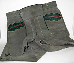 Vintage Cowhide Suede Hand Sewn German Lederhosen by FabulousFunFashion on Etsy