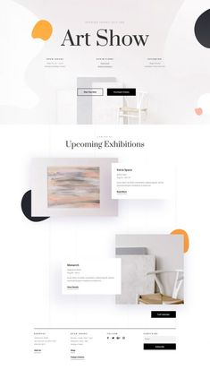 The Art Gallery Layout pack provides a perfect canvas for any art gallery website. The page layouts are specially crafte Page Layout Design, Website Design Layout, Web Layout, Website Designs, Website Ideas, Ecommerce Web Design, Wordpress Theme Design, Maquette Site Web, Mise En Page Web