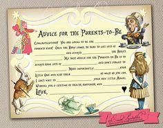 Printable DIY Alice in Wonderland Mad Libs Baby by EventPrintables, $15.00