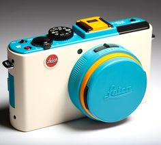 """This one looks more like """"My First Leica"""" by Fisher Price. Color customizable Leica D-Lux 5 Leica Camera, Camera Gear, Film Camera, Nikon Dslr, Gopro Camera, Hipster Camera, Camera Hacks, Camera Phone, Internet Of Things"""