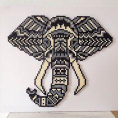 Tribal elephant hama beads by  dassommersprossenmaedchen