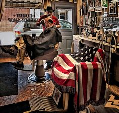 Court Barber Shop Lewisburg, WV   by cliff2n, via Flickr