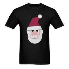 A jolly cartoon Father Christmas face. Santa Face, Cartoon, Model, Christmas, Mens Tops, T Shirt, Xmas, Supreme T Shirt, Tee Shirt