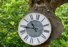 ook een klok op hout....