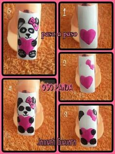 ideas nails valentines day simple art for 2019 Trendy Nail Art, New Nail Art, Cool Nail Art, Disney Nail Designs, Nail Art Designs Videos, French Nail Designs, New Nail Designs, Animal Nail Art, Winter Nail Art