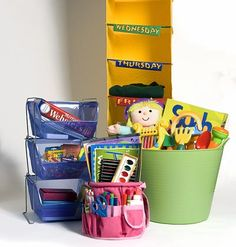 So Many Options When it's time to clean up your kid's room or playroom, the storage options are endless.    The key to organization is using products that are colorful, easy to clean, and small enough for the children to help, yet large enough to get the job done.    Check out our four favorite solutions for four main problems when it comes to clearing kids' clutter.