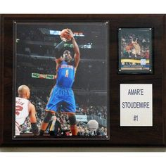 C Collectables NBA 12x15 Amar'e Stoudemire New York Knicks Player Plaque, Multicolor