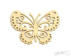 Laser Cut Wood Coasters. Birch Coaster. Butterfly
