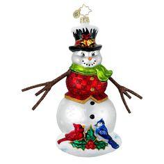Radko Ornaments Snowman Christmas Ornament Winter Gathering