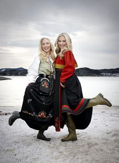 Norway Girls, Folk Costume, Costumes, Norwegian Style, Visit Norway, Norse Vikings, Ethnic Fashion, Traditional Outfits, Sweden