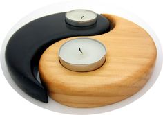 Yin & Yang Tealight Candle Holders.