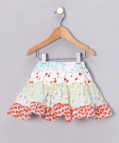 Take a look at this Blue & Red Summer May Skirt - Infant, Toddler & Girls by Paulina Quintana and  Moxie & Mabel on #zulily today!
