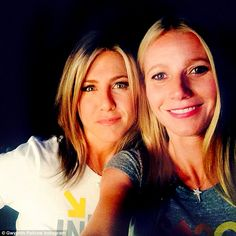Revealed: Jennifer Aniston and Gwyneth Paltrow have bonded since their very public breakups with Hollywood golden boy Brad Pitt, pictured in a recent social media selfie