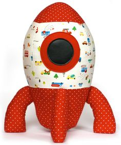 Cute rocket softie sewing pattern