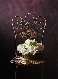 love this iron chair