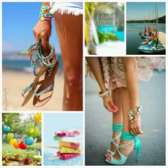 It's always summer somewhere. #moodboard #mosaic #collage #inspirationboard #byJeetje♡