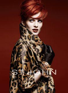 Karen Elson for St John - Love the whole look.