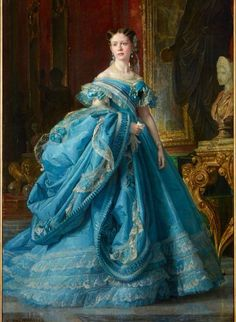 "Infanta Isabel, Princess of Asturias, Vicente Palmaroli xix- Countess of Girgenti nicknamed ""La Chata"" ~ exquisite"