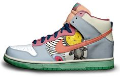 Name: Sara Age: 30 MS for 2 years Country: Spain City: Zamora  Sara sent me great illustrations  She is a graphic designer, a lover of illustration, art and nike sneakers.  Thank you Sara:)  see it on shoes... How do you like it?
