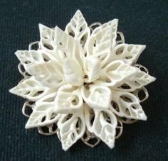 "Shell Art Brooch - ""Roses"" - Cheryl Whitten"