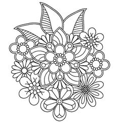 abstract coloring pages for adults Free Adult Coloring Pages, Flower Coloring Pages, Mandala Coloring Pages, Coloring Book Pages, Pattern Coloring Pages, Mandala Pattern, Zentangle Patterns, Embroidery Patterns, Zentangles