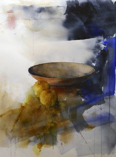 Bowl, a Watercolor on Paper by Stig O Sivertsen from Norway. It portrays: Still Life, relevant to: plate, bowl, watercolour, still life, nature morte, akvarell , Stig-Ove Sivertsen, silleben Original expressive watercolor on 300 g rough Arches paper. Signed and dated. More watercolors available in my portfolio or www.gallerisos.no. Please contact me for further details