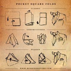 3 façons de plier une pochette de veste en image - L'homme Tendance
