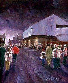 Football paintings for SAFC by Dick Gilhespy Sunderland Football, Sunderland Afc, Retro Football, Football Art, Football Paintings, Home Team, Concert, Club, Leg Tattoos