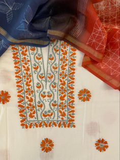 Gala Design, Kurti Neck, Silk Dupatta, Necklines For Dresses, Shibori, New Dress, Hand Embroidery, Dresses For Work, Pure Products
