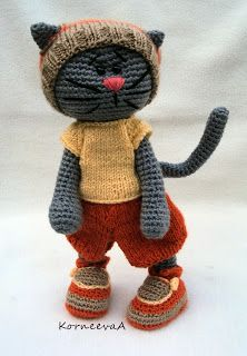 Inspiration..crocheted plushie cat...from Free time