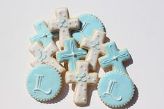 Boy Baptism Cookies
