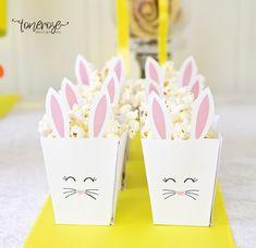 Gratis popcornbokser på bloggen! Free printable =)   { Påskehare popcornboks // Gratis print } Ark, Bunny, Container, Easter, Design, Cute Bunny, Easter Activities, Rabbit