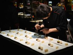 """7th arrondissement""""When he opened the first L'Atelier in 2003, Robuchon didn't know he would one day oversee an empire with outposts in nine capitals. He manages to maintain the high quality with addictive dishes like deep-fried langoustines wrapped in Moroccan brick pastry and his unequaled potato purée."""" —Patricia WellsRestaurant Info: L'Atelier de Joël Robuchon"""